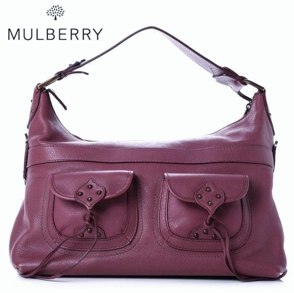 5c2d16890875 🆕NWT Mulberry Hobo Mauve Deep Purple Leather Bag. Listing Price: $600.00